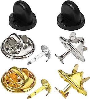 80 对蝴蝶手包金属和橡胶针背替换带空白销用于工艺制作(组合)