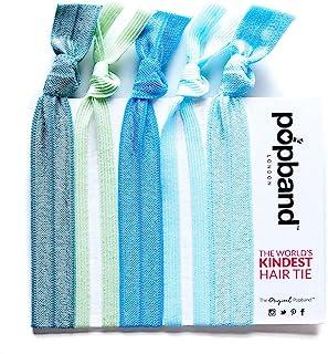 发带 - Popband London 发带(5 条装) - 为全天(和夜晚设计!) 佩戴 - 可以防止弯头折 - 时尚适合手腕 - 无*