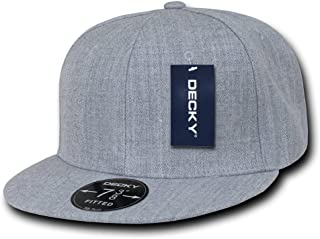 DECKY Heather Grey Retro Fitted Baseball Caps