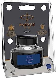 Parker 派克 钢笔 液体瓶装Quink 墨水,57毫升,吸塑包装 - 蓝色/黑色