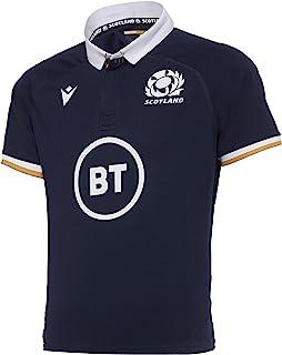 Macron SRU M20 衬衫 SS JR,儿童主场球衣,苏格兰橄榄球 2020/21,中性