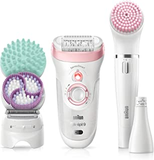 Braun 博朗 Silk-épil Beauty Set 9 9-985 女士奢华除毛器 无线,干爽:用于*,剃须,去角质和清洁身体/面部