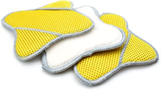 Scrub Ninja - Star Scrubber (7 英寸 x 7 英寸)白色/金色 - 3 件装