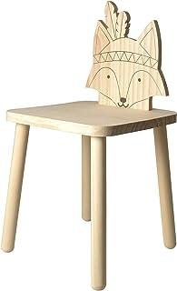 Artemio 29x29x62.5 厘米狐狸图腾椅子,自然,29x29x57 厘米