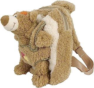 Bieco 04601550 长毛绒帆布背包 30 x 25 x 12 厘米 带熊