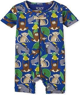 The Children's Place 婴儿和幼儿男孩猴子舒适棉质短款连体睡衣