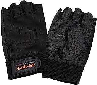 企鹅ACE 防滑灯 P样式 开放式手指手套 L 黑色 PA-9700