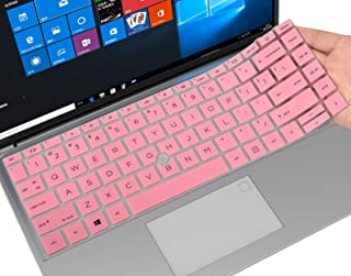 CaseBuy 键盘保护套适用于 2020 HP EliteBook 840 G7 14 英寸笔记本电脑,HP EliteBook 845 G7 14 英寸笔记本键盘保护膜皮肤配件,粉色