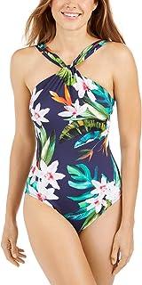 LAUREN RALPH LAUREN 拉夫·劳伦女士水彩热带高领连体泳衣,多色,14