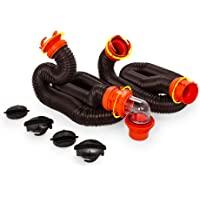 Camco RhinoFLEX 20ft RV Sewer Hose Kit, Includes Swivel Fitt…
