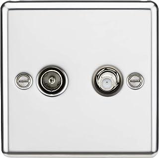 TV & SAT 电视插座(隔离) - 圆边抛光镀铬