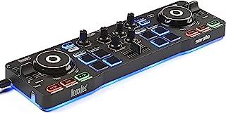 Hercules DJ DJControl Starlight | Pocket USB DJ 控制器,带 Serato DJ Lite 触摸感应滑轮,内置声卡和内置灯光显示