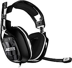 ASTRO Gaming A40 TR 使命召唤联盟版,4 代有线游戏耳机,Astro Audio V2,杜比音频,可交换麦克风,游戏/语音平衡控制,适用于 Xbox X|S|Onee,PS5,PS4,PC - 黑色/白色