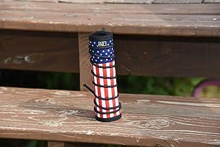 Subtac 全自动、高温阿尔法抑制器/消音器盖 19.05 厘米美国国旗