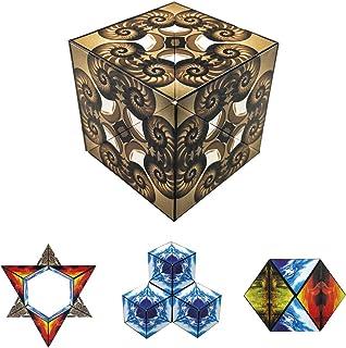 GeoBender 几何 3D 骰子 磁性 3D 拼图 大号 - 抗压游戏 - 磁铁玩具 儿童 STEM / STEAM 学习玩具 (autilus)