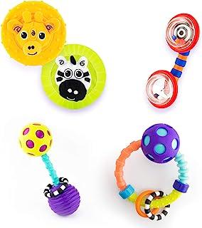 Sassy 婴儿礼品套装,适合0 个月以上, 5 件套,带有不同的摇铃和牙胶