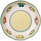 Villeroy & Boch 法式花园摇滚浅碗,38 厘米,优质陶瓷,白色/彩色