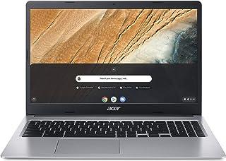 Acer 宏碁 Chromebook 315(15.6 英寸全高清 IPS 触摸屏哑光,19.7 毫米扁平,超长电池续航时间,快速无线局域网,MicroSD插槽,Google Chrome OS)银色