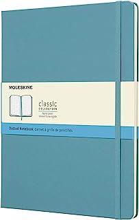 Moleskine 经典笔记本,XL (7.5 x 9.75) ,硬壳 点缀 Reef Blue