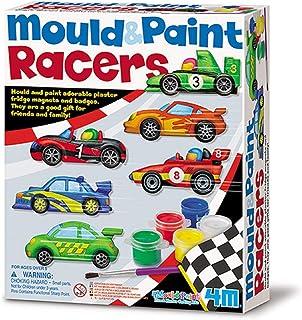 4M 石膏彩模系列 创意美术手工DIY玩具 超级跑车