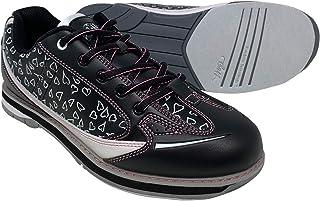 SaVi 保龄球产品女式 Vienna Hearts 白色/黑色/粉色保龄球鞋_女士时尚系带带带/通用鞋底适合右撇子和左撇子保龄球者