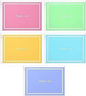Hallmark 婴儿洗礼感谢卡分类,柔和纯色(50 张卡片适用于婚礼、新娘送礼会和各种场合)