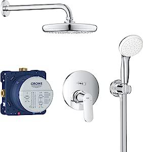 GROHE 高仪 Eurosmart Cosmopolitan 淋浴系统 安装 带Tempesta 210 镀铬 25219001