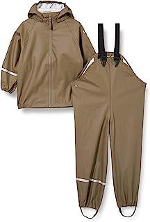 CeLaVi 中性儿童基本款雨衣套装 回收 Pu 防雨夹克