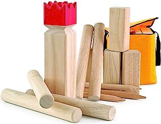 Carromco KUBB 维京象棋经典 - 07710,橡胶木