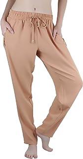 ToBeInStyle 女士抽绳运动裤带金色拉链