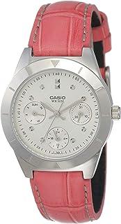 CASIO 卡西欧 指针系列青春靓丽镶钻皮带女表 LTP-2083L-4AVDF
