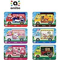 6 件 Amiibo 稀有房车村民家具 NFC 卡,适用于动物穿越新地平线,协作包 Sanrio 迷你卡,兼容 Nint…
