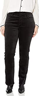 NYDJ 女士加大码 Marilyn 直筒天鹅绒牛仔裤