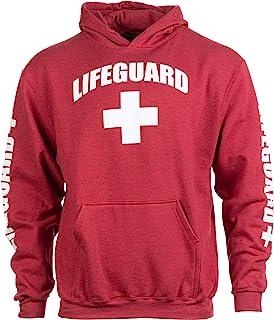Lifeguard | 红色中性款制服羊毛连帽运动衫连帽运动衫男式女式