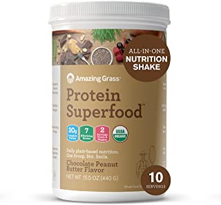 Amazing Grass - 有机蛋白质Superfood震动巧克力花生酱 - 15.1盎司