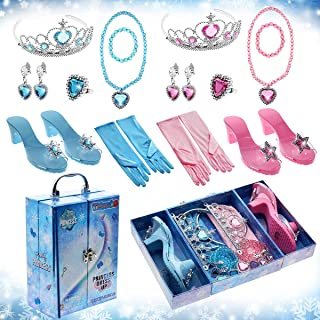 公主玩具礼物 3 4 5 6 7 8 岁女孩,幼儿儿童玩具游戏,适合 3 岁以上女孩公主装扮鞋室内室外派对精美展示盒生日复活节圣诞礼物