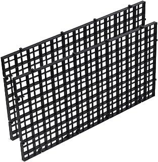 WDFS 分离板 2 件家庭配件 水族箱底部网格分隔花园耐用专业鱼(黑色)