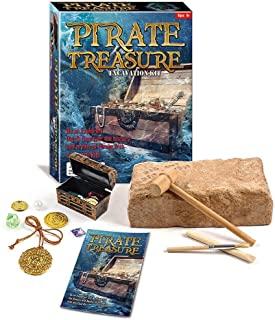 Zugar Land 15.24 厘米海盗宝箱挖掘工具箱 - 成为一名探险家,用这款酷炫的套装挖掘和发现海盗的历史和神话。