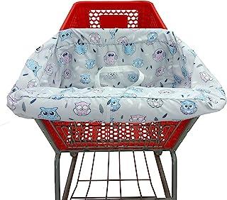 Miss Dong&Mr. Chen 购物车罩适合婴幼儿/2 合 1 高脚椅套/可机洗/适合餐厅高脚椅/便携式带免费手提袋(简易版本,猫头鹰)