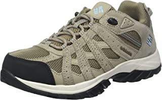 Columbia 哥伦比亚 女士 Canyon Point 防水徒步鞋 & 远足 低帮鞋 灰色/天蓝色