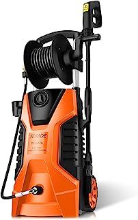 3800PSI 电动高压清洗机 2.8GPM 1800W 大功率清洗机 带软管卷轴 适用于清洁汽车、家庭、车道、庭院(*)