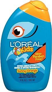 L'Oreal 儿童超柔和2合1游泳 & SPORT 洗发水9.0液体盎司 3片装