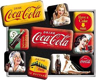 可乐黄色 9 件套迷你冰箱磁贴