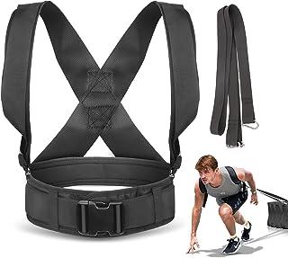 YNXing 雪橇拉带,带拉带的轮胎拉力训练束带,可调节衬垫肩带