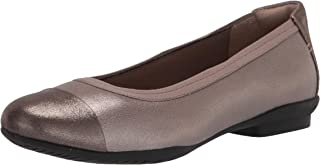 Clarks 女士 Sara Orchid 芭蕾平底鞋