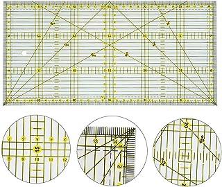 Quilters 尺子 双色网格线条拼接尺 1530 亚克力缝纫尺 用于缝纫绗缝切割尺