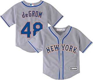 Jacob deGrom 纽约大都会队 #48 灰色儿童 4-7 Cool Base Road Player 球衣