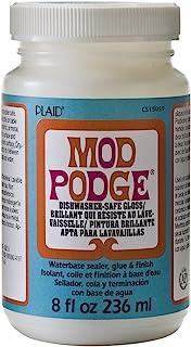 Mod Podge 可用洗碗机清洗水性密封剂,胶水和表面(8 盎司),CS15059 光泽,3 件装