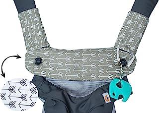 优质水滴和出牙棉垫——适合 Ergobaby Four Position 360 和大多数婴儿背带——箭头设计——低*性——Mila Millie 制造的婴儿派对礼物 Gray Arrow