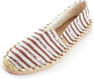 Alexis Leroy 男式原创经典条纹帆布平底帆布鞋